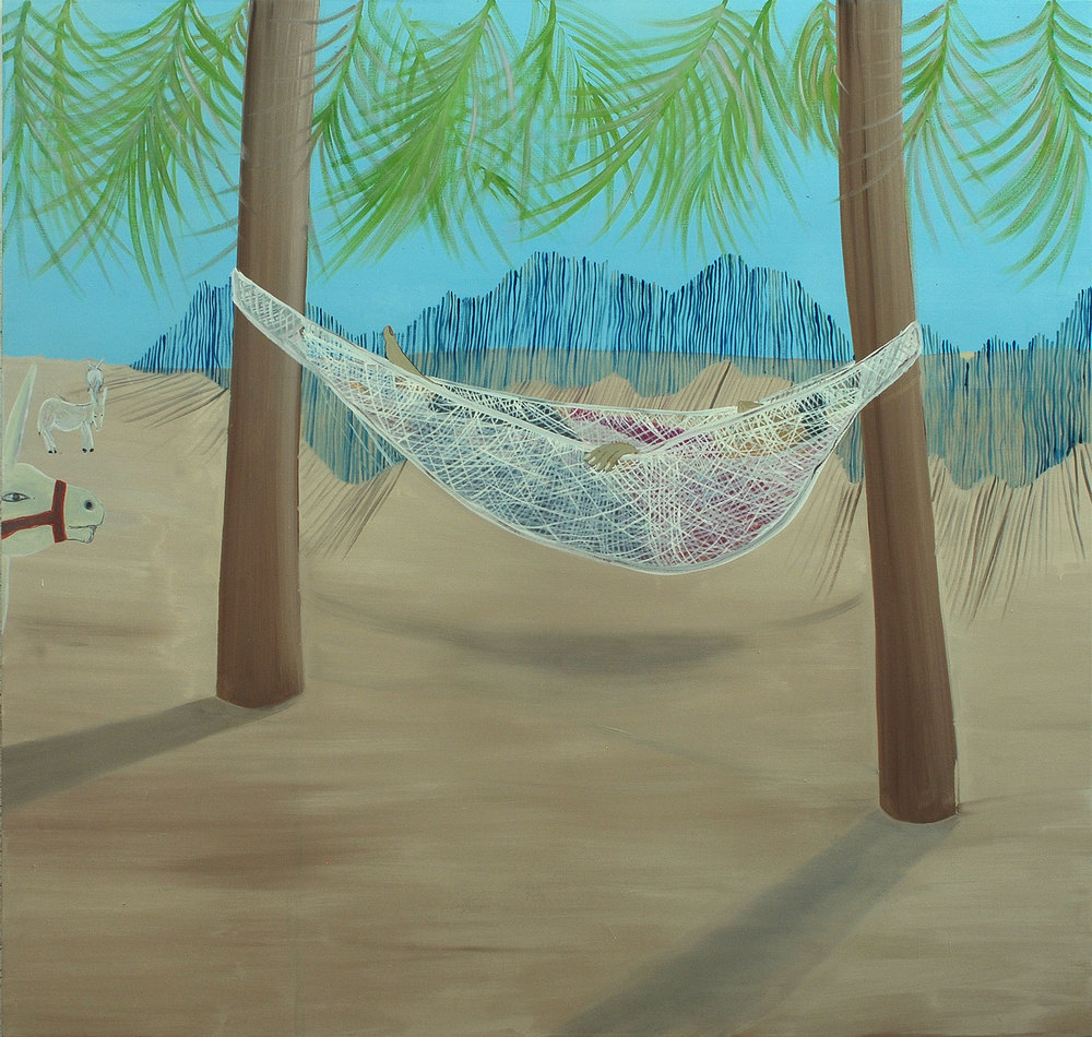 Hammock, 2009    Oil on canvas, 188x197.5 cm