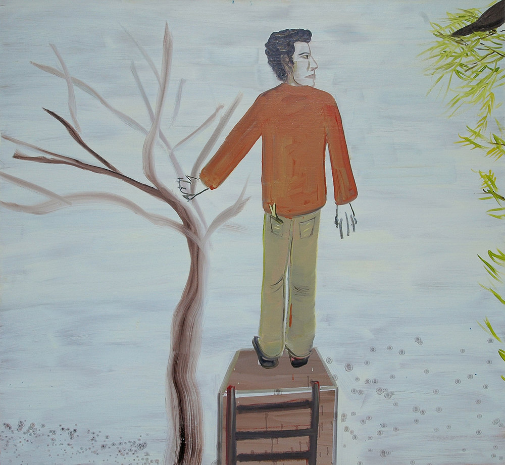 Last Step, 2008    Oil on canvas, 132x142 cm