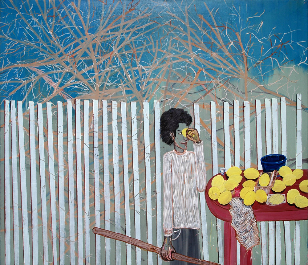Reading the Lemons, 2008    Oil on canvas, 190x217 cm