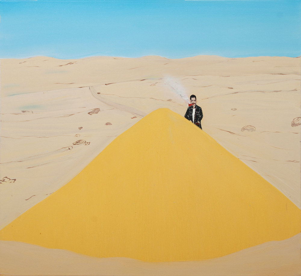 Sea Sand, 2009    Oil on canvas, 122x122 cm
