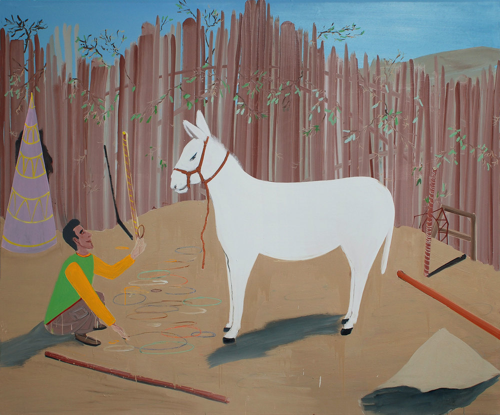 To Explain a Circle to a Donkey, 2009    Oil on canvas, 177x212 cm