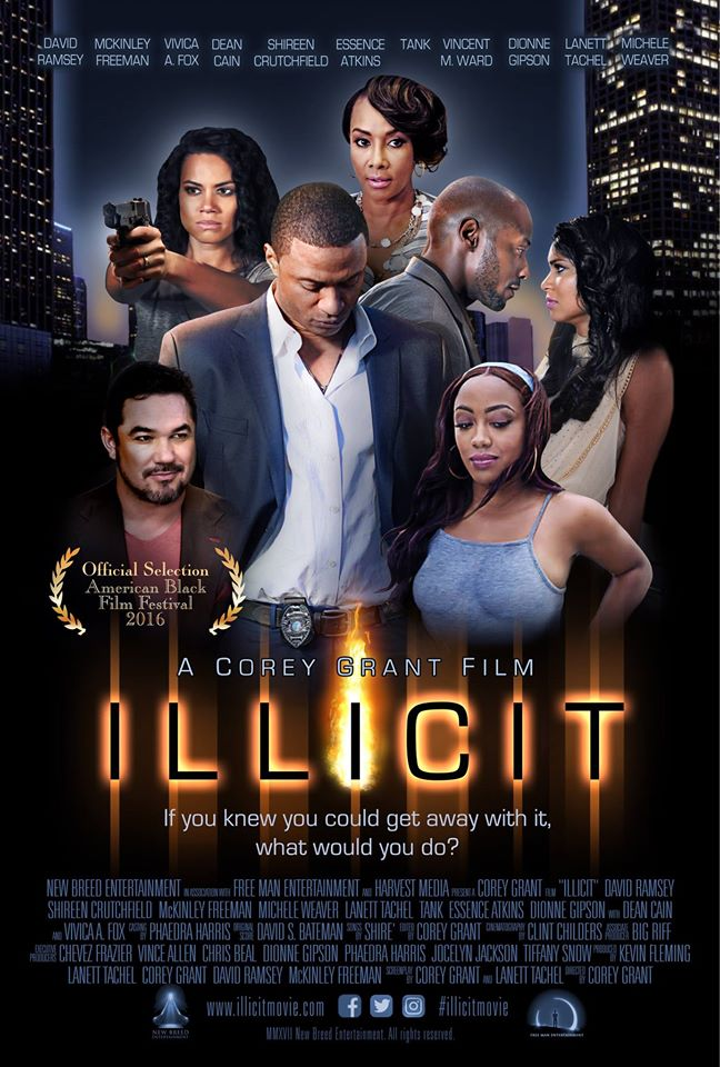 Check out my newest project ILLICIT and get to know me as a writer/producer/actress. This erotic thriller boasts an all star cast and is coming to theaters in 2016.                                   ----------->CLICK THE PIC to see the website and the sneak peek trailer!