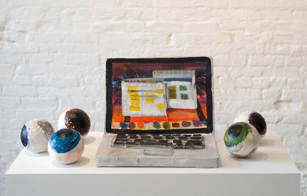 Laptop with Eyeballs