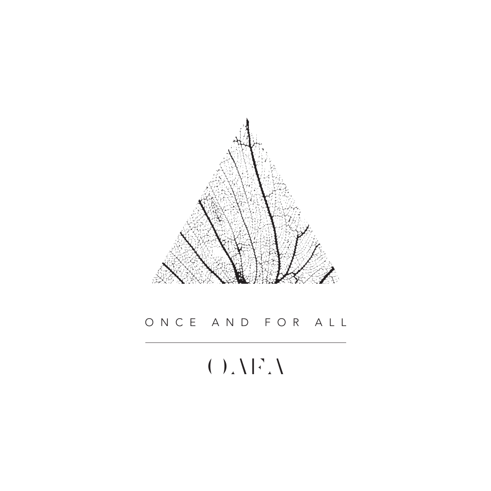 Identity for Once and For All - a contemporary women's fashion label made in the USA.      http://oafaclothing.com/