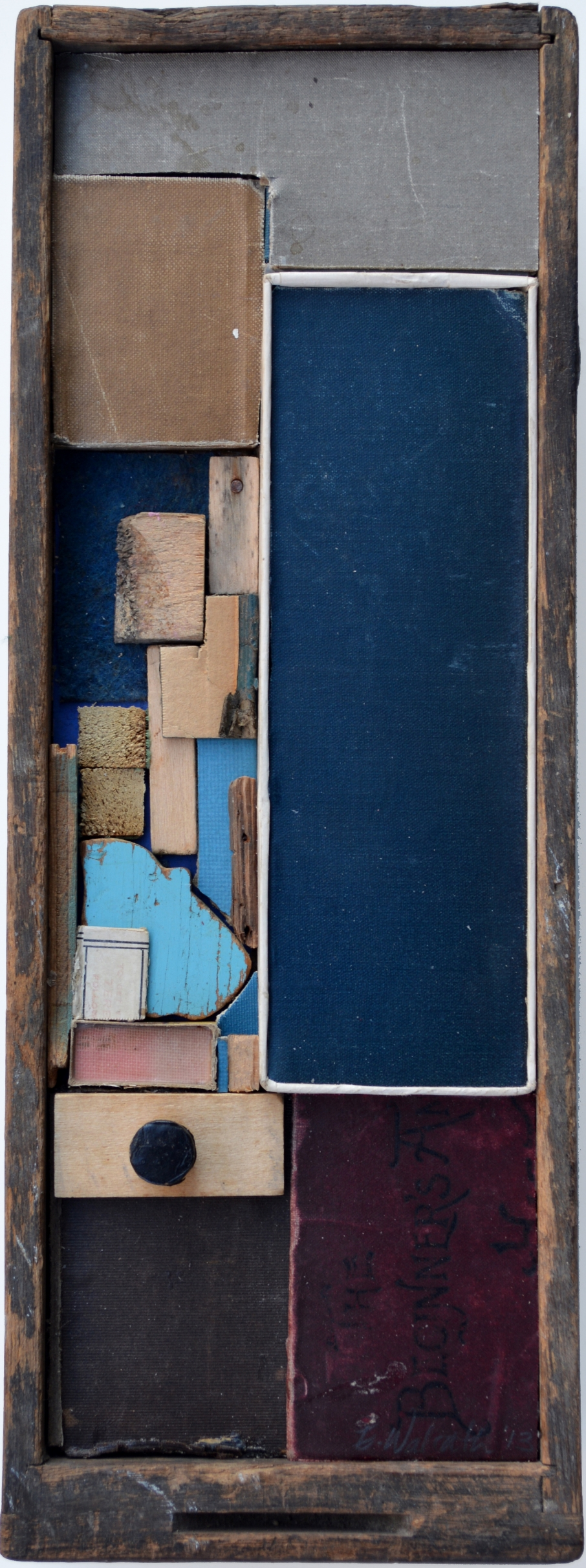 Blue Arrangement 2013, mixed media, 13X5X4 inches.jpg