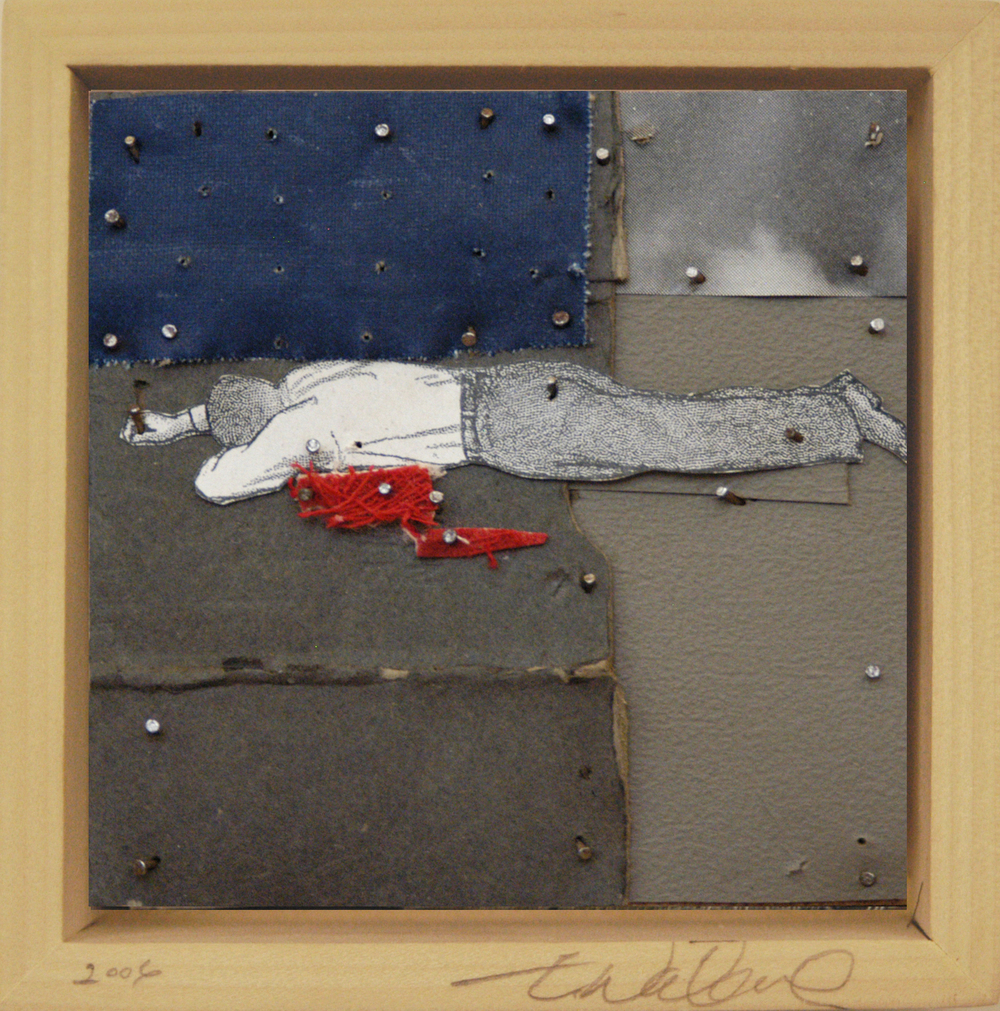 War Series, Bloody Man, 2007, mixed media, nail on wood, 3X3in, web.jpg
