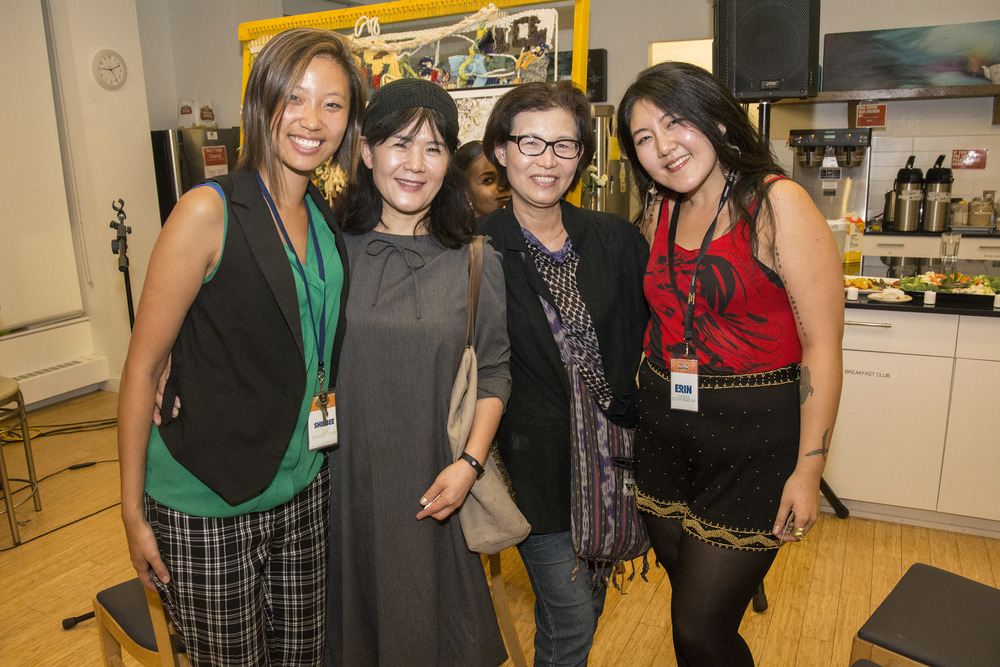 Erin and CSI colleague Shilbee Kim with their moms!   From Left to Right:  Shilbee, Erin's Mom, Shilbee's Mom, Erin!