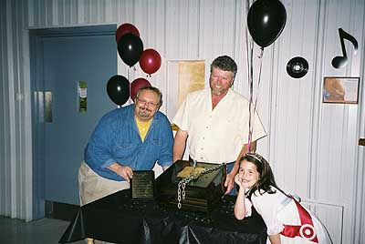 Pictured above is Marc Tessier-150th Anniversary Committee Chairperson, Jeff Roddick-Executive Director and Millie Close-DeVries-2005 Little Miss Spencerville Fair.