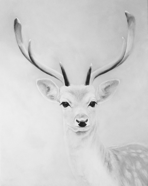 Black white deer print