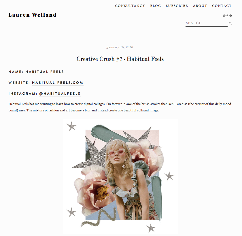 Lauren Welland Blog Feature