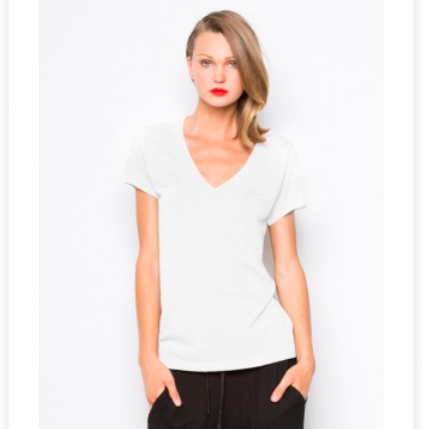 LaMade Low V Neck BF Tee