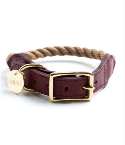Rope and Leather Collar by Found My Animal