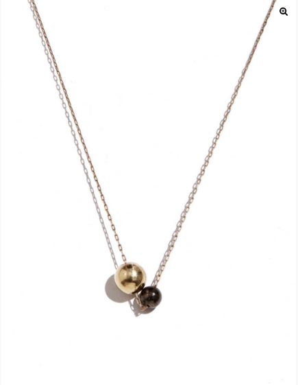 Large Deux Pearl Necklace by Another Feather