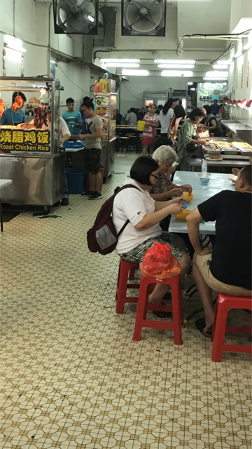 We think of hawker centers as a series of regularly-spaced stalls, but there are also many small clusters of independent food vendors renting, or sharing space and facilities.