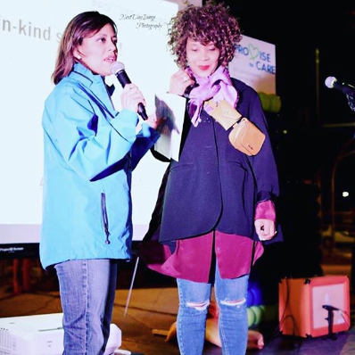 Lifetime partnered with Promise House for the Promise to Care: An Unsheltered Experience event in Dallas, Texas, in early March. Business and community leaders were invited to spend a night at a bridge frequently used by the area's homeless youth population to learn more about the issues they face and to see an exclusive screening of the movie. Regina was the keynote speaker.   Photo from Regina Louise /    @therealreginalouise