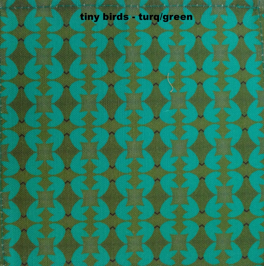 tiny birds - teal/green