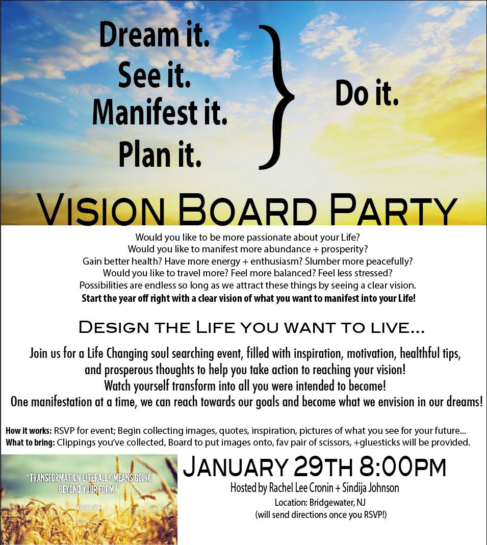 Vision Board Party Invite Southernsoulblog Com