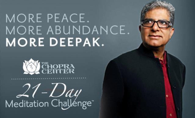 deepak chopra 21 day meditation challenge free