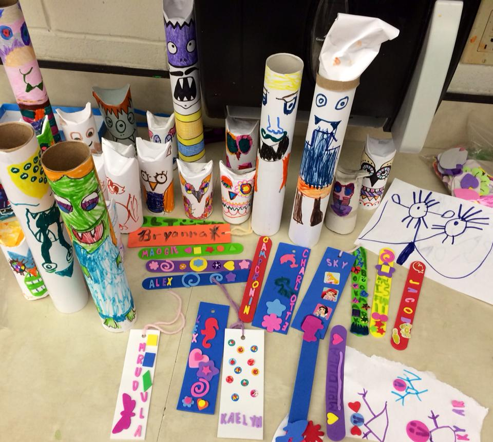 Summer Fun Camp Cronin 2014  Bookmarks and TP Monsters!