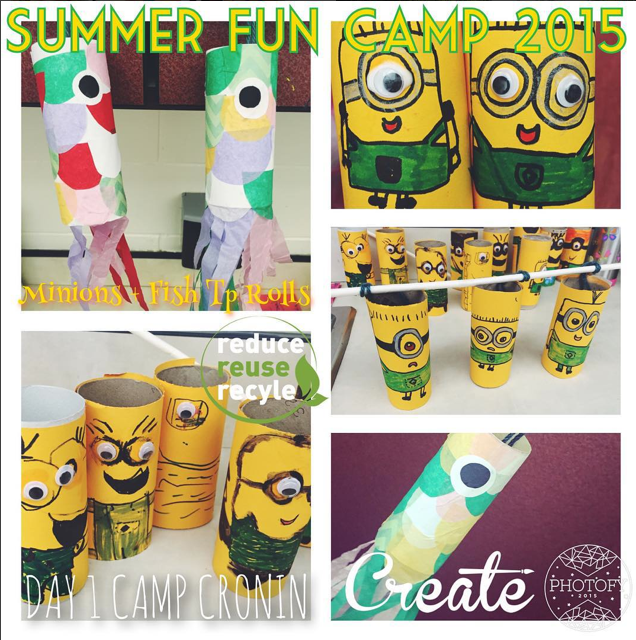 Summer Fun Camp Cronin 2015 Minion + Fish Toilet Paper Rolls