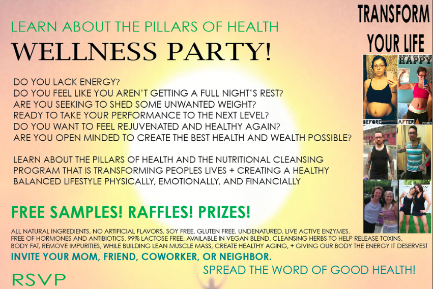 Wellness Party www.loveblossoms.me