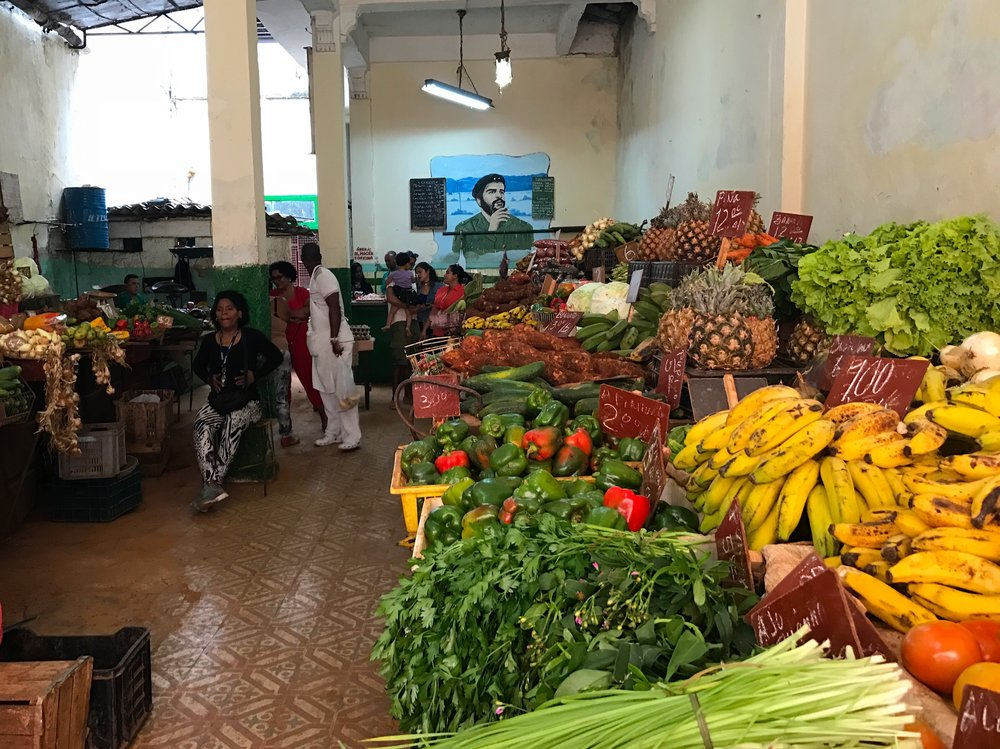 This was our favourite fruit and veggie market in Havana!