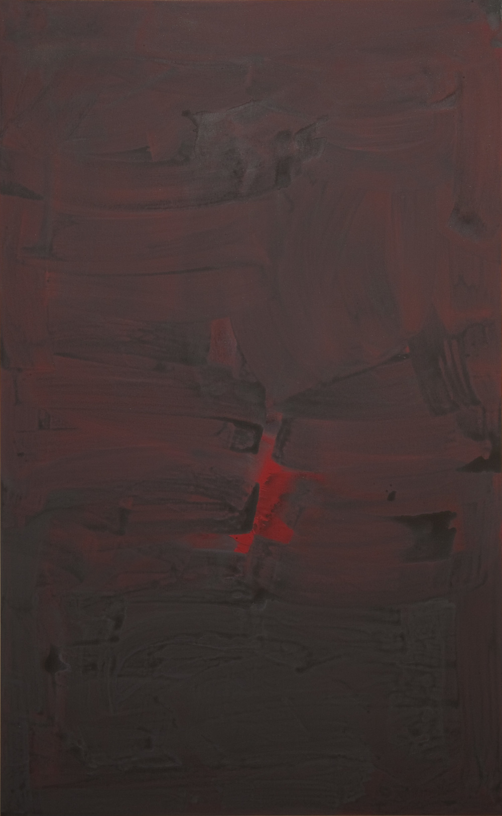 2012, acrylic on canvas,150 x 242.5 cm (59 x 95 1/2 in)