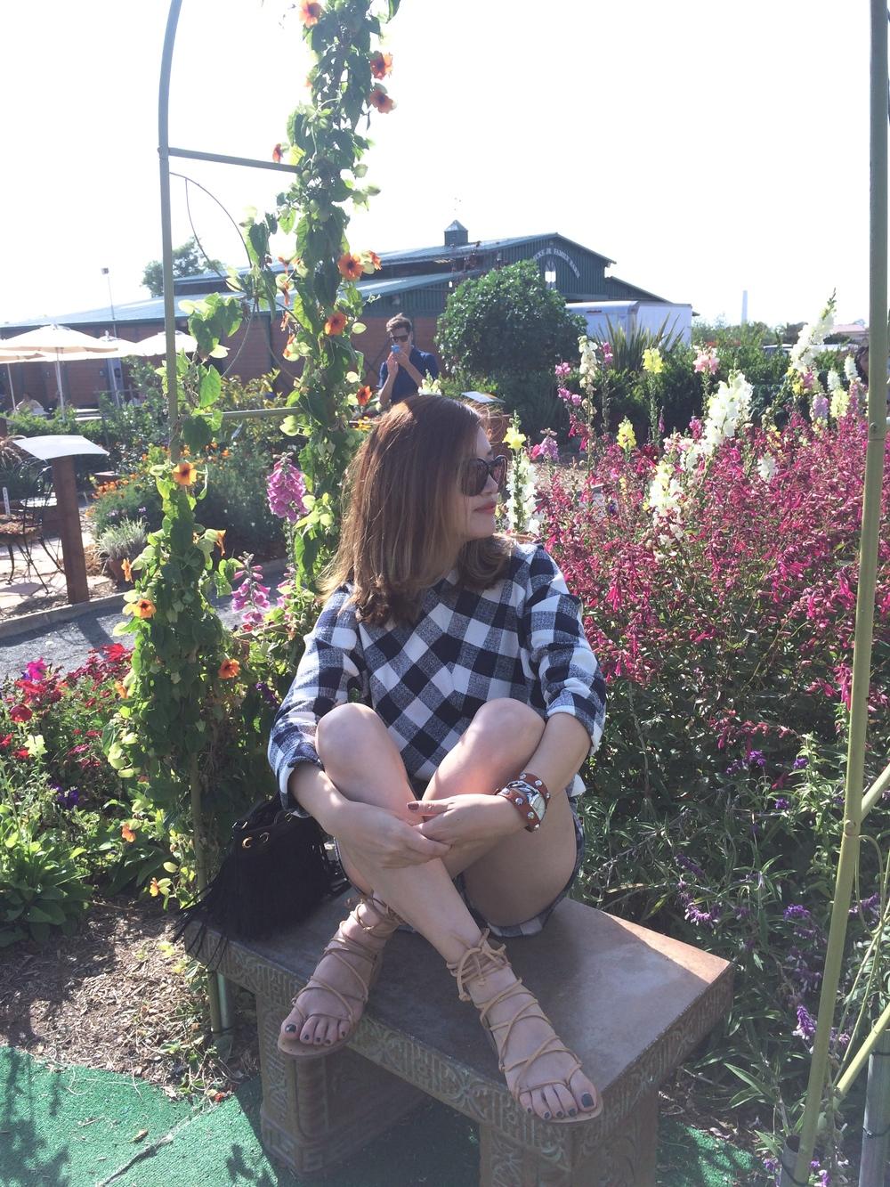 carlsbad flowerfield zara bench outfit.jpg