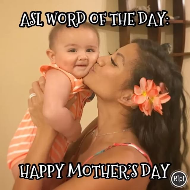 We are back!! First ASL word of the Day this year!! Happy Mother's Day!! Swipe left to check the video #happymothersday #mothersday #asl #aslhi #asllesson #asllessons #deafmom #aslhawaii #hawaiiasl #howtosign #aslwordoftheday #learnasl #americansignlanguage #signlanguage #deaf