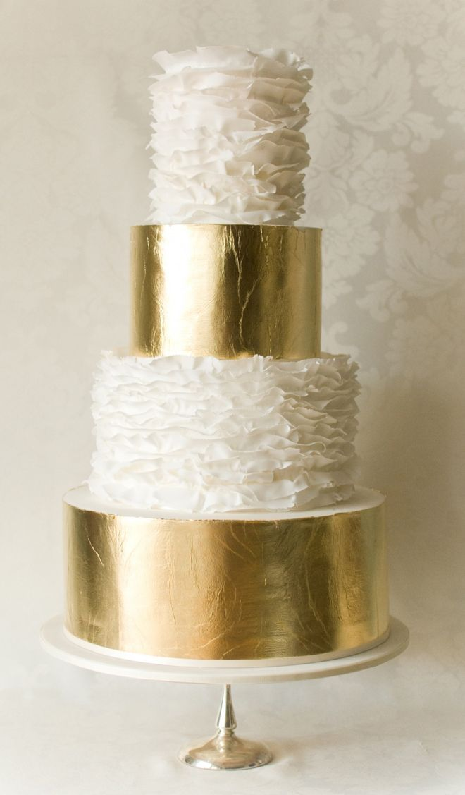 08. gold metallic cake by anna elizabeth cakes- vancouver
