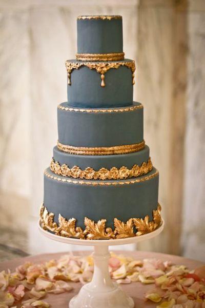 13.gilded wedding cake via zsazsa bellagio