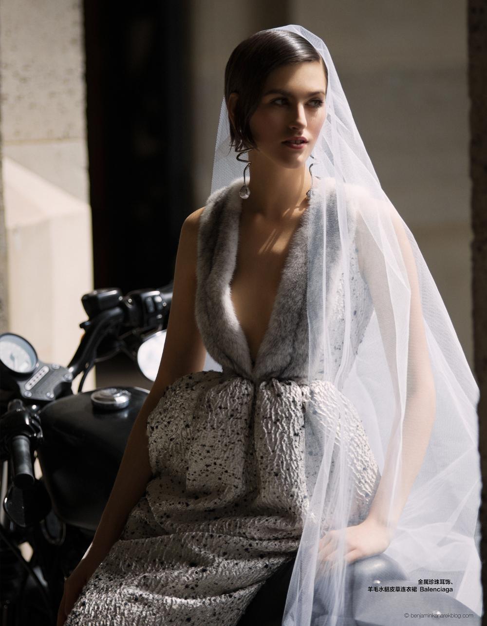 Balenciaga Fur Wedding Gown