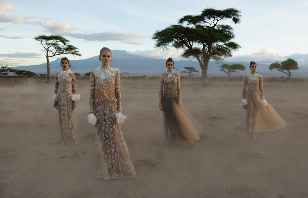 cameron, kirin, tami, alice and greta by steve mccurry for valentino spring / summer 2016