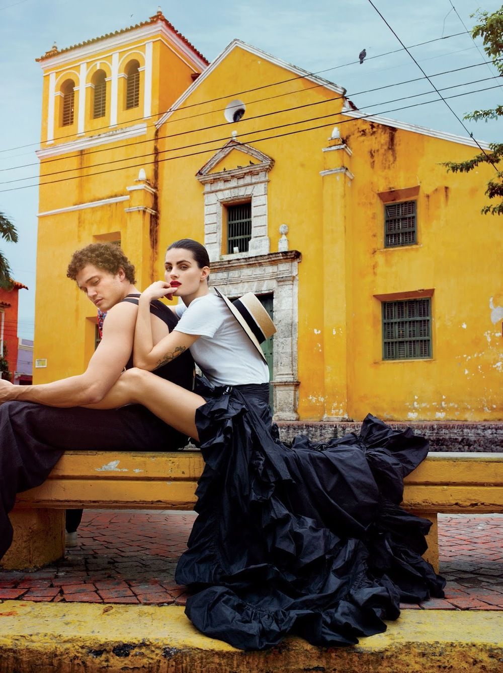 the romantics: isabeli fontana and karl glusman by cedric buchet for us glamour february 2016