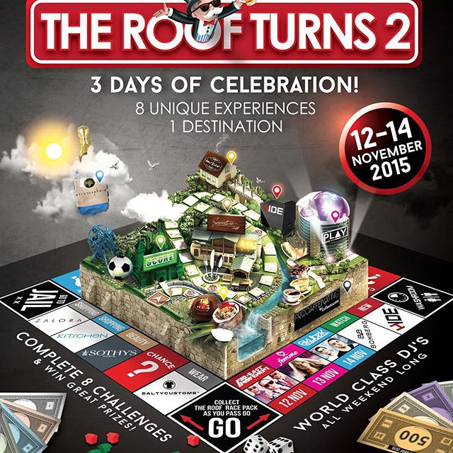 Congrats to our friends at The Roof on turning 2! Get yourself an exclusive party tee, designed and produced by Saltycustoms. See you there! #theroof #saltycustoms