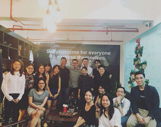It's @samoh last day! Wishing you all the best in Singapore. We'll miss you! #saltycustoms #saltysquad