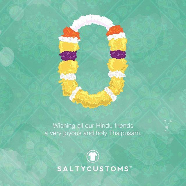Wishing all our Hindu friends a joyous Thaipusam!