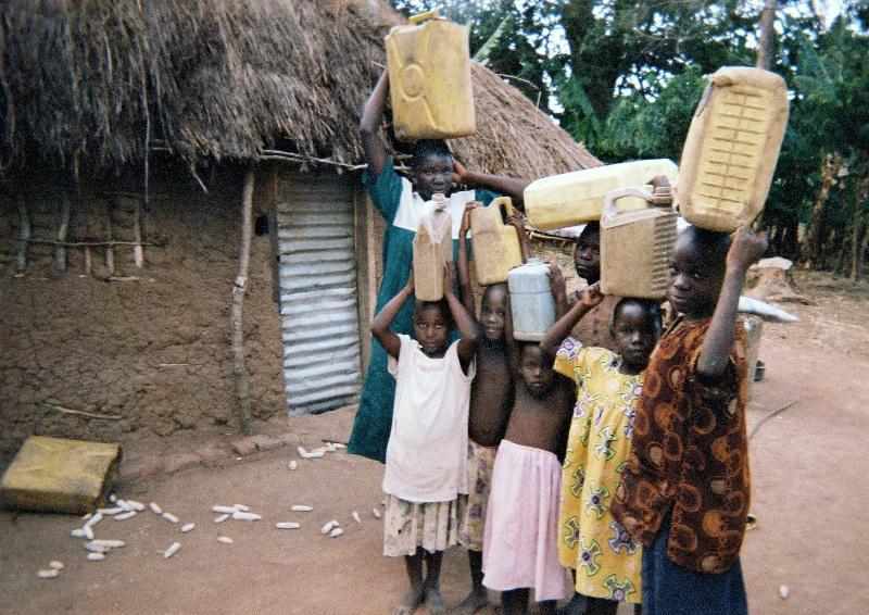 Naddamba makes sure the children go to school.
