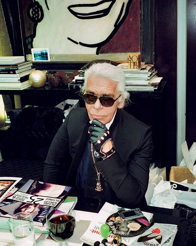 🕊Respect to this creative mind #KarlLagerfeld
