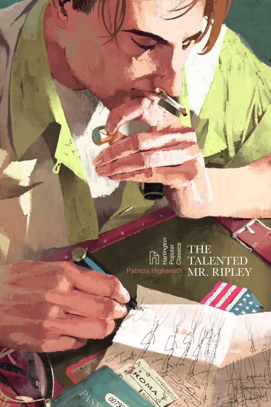 The Talented Mr. Ripley Book Cover by Marc Aspinall