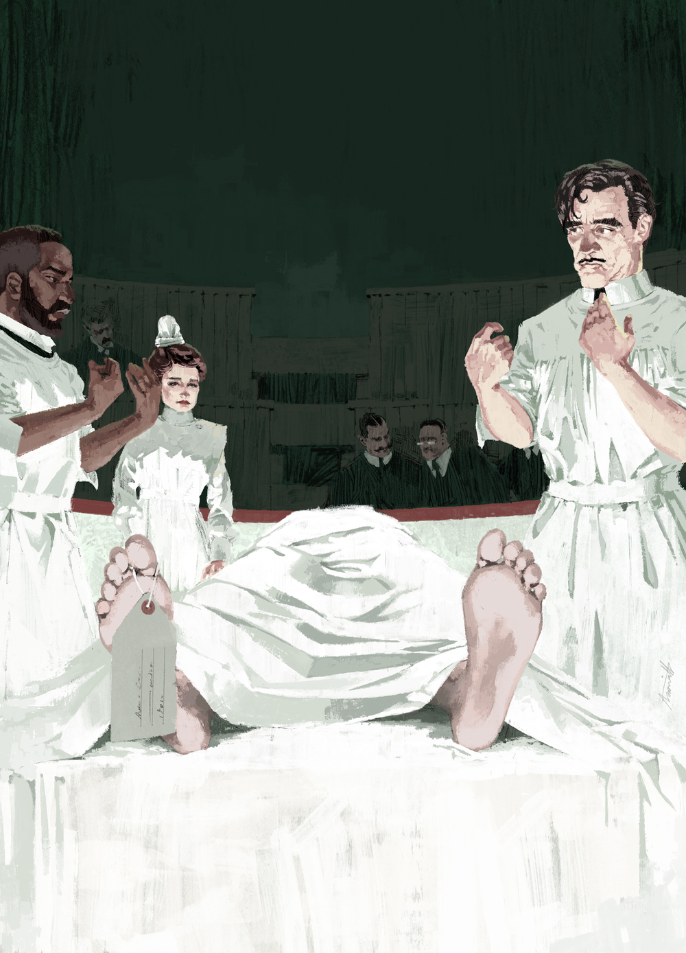 Clive Owen heads the cast of Soderburgh's The Knick for The New Yorker by Marc Aspinall