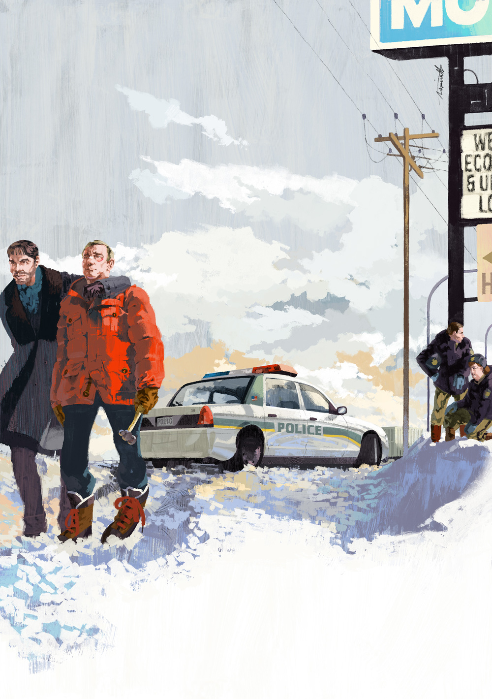 Billy-Bob Thornton and Martin Freeman star in the FX hit Fargo for The New Yorker by Marc Aspinall