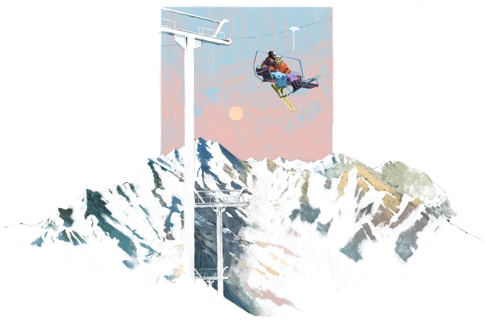 Val Thorens, mountains and skis! For EasyJet Traveller by Marc Aspinall