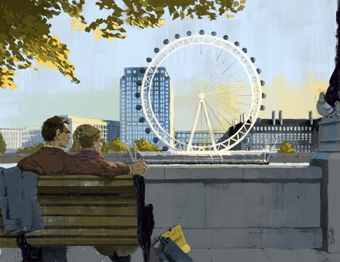 Couple enjoying the view in London by Marc Aspinall