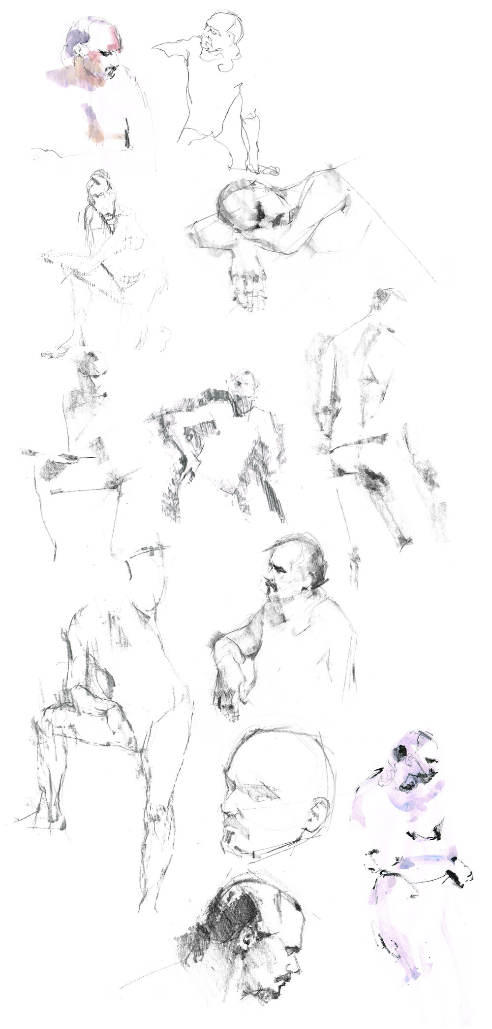 Liverpool Life Drawing at Leaf by Marc Aspinall