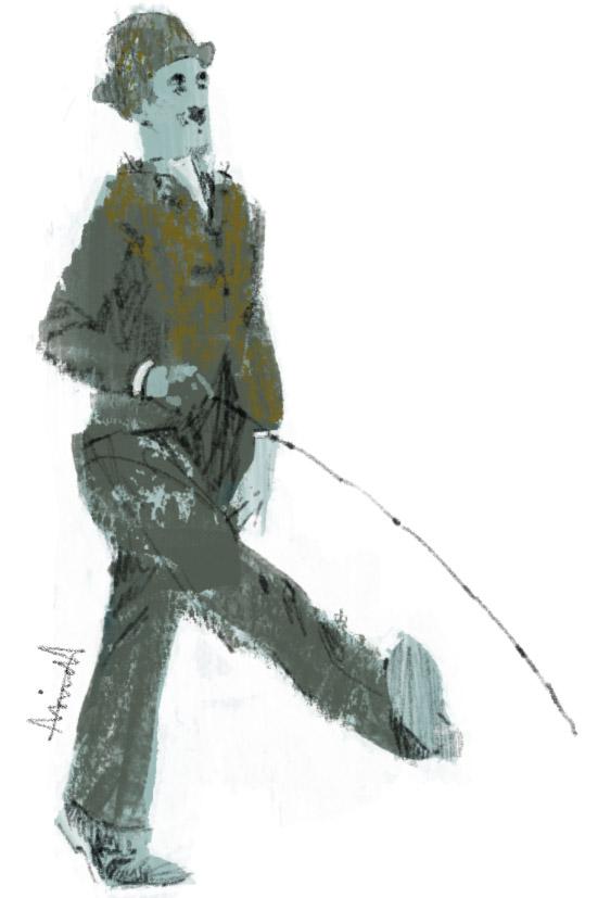Charlot Charlie Chaplin for Le Parisian by Marc Aspinall