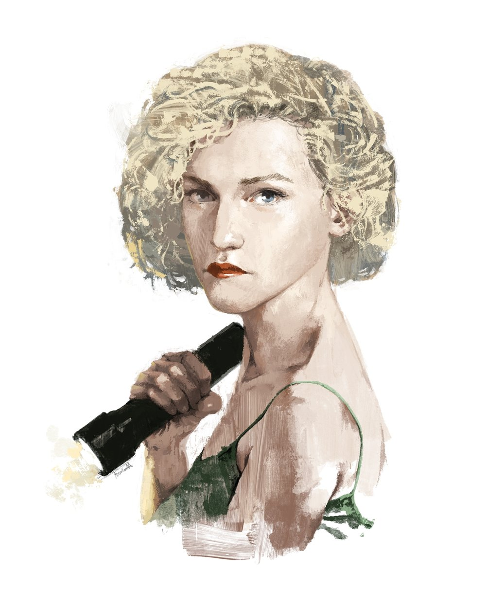 Ruth from Ozark, played by Julia Garner portrait by Marc Aspinall