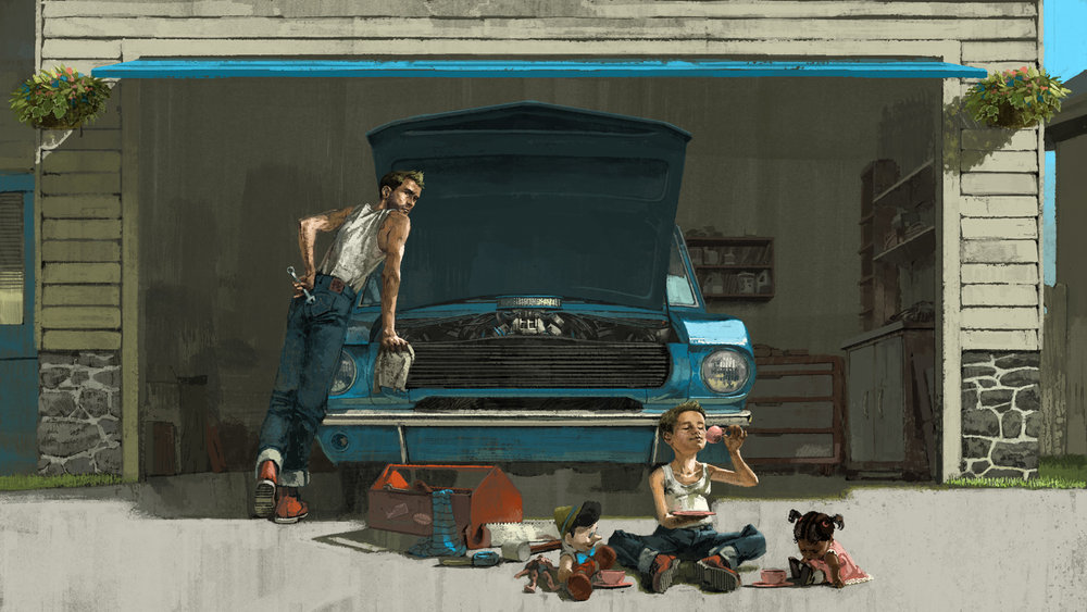 Fathers Illustration for Topic Magazine by Marc Aspinall
