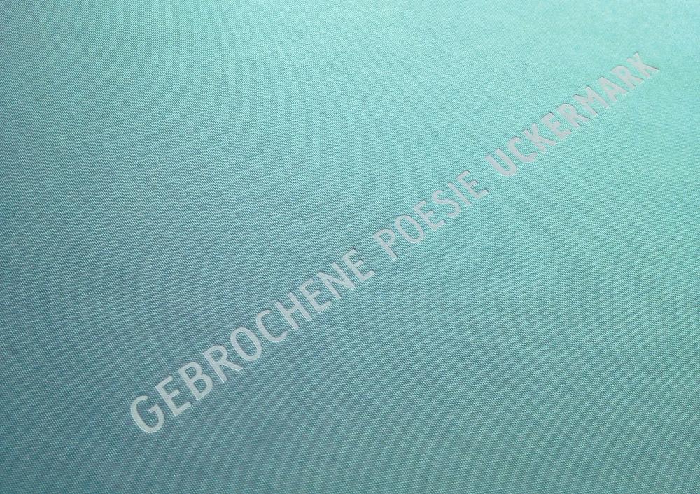 Covergestaltung – Gebrochene Poesie Uckermark – Manuela Busch und Frank Wiemeyer
