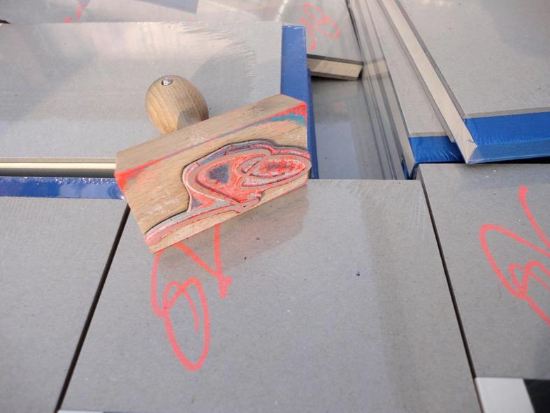 Signaturstempel für den Einband